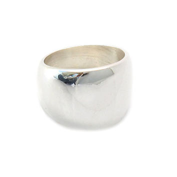 Thick sterling silver ring | Cup ring | Handmade silver jewelry | Mexican rings | Sterling Silver Rings Shop | Optional Thumb ring | 0204