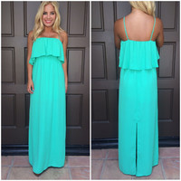Caelyn Chiffon Maxi Dress - SPRING GREEN