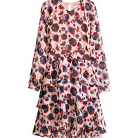 H&M Patterned, Ruffled Dress $59.95