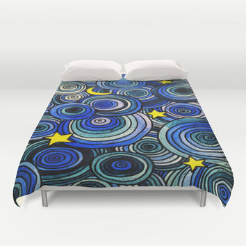 Watery Night Duvet Cover by DuckyB (Brandi)