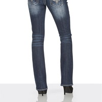 vigoss ® Faux leather and rhinestone embellished jeans