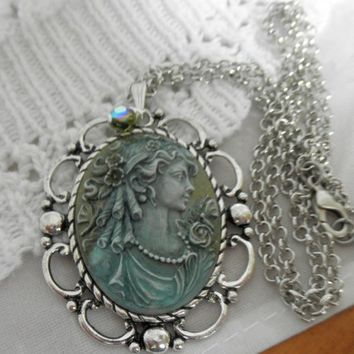 A Victorian Lady Handmade Cameo Necklace