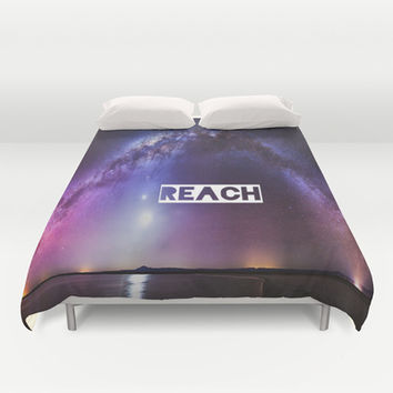 REACH Duvet Cover by Hoshizorawomiageteiru | Society6