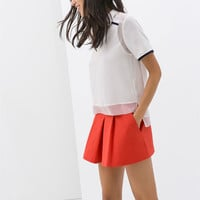 BOX PLEAT SHORTS WITH SIDE POCKETS