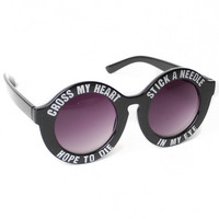 Deadstock Sunglasses - Needles (Black/Silver)