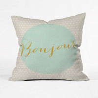 Parisian Greeting Pillow Cover