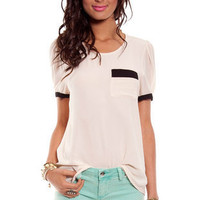Contra Back Top in Beige  :: tobi