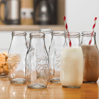 Six School Milk Bottles