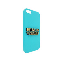 Belive In Your Self 3d  Wood For Iphone 5, Iphone 4/4s