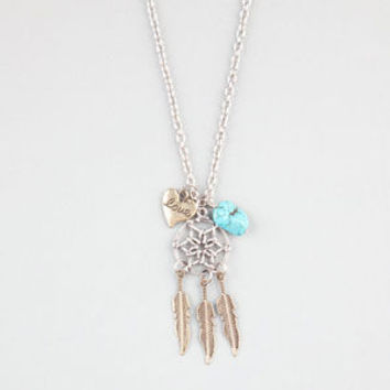 FULL TILT Dreamcatcher/Love Charm Necklace 243560191 | Necklaces | Tillys.com