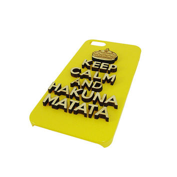 Keep calm and hakuna matata 3d  Wood  typography For Iphone 5, Iphone 4/4s