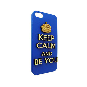 Keep calm and be you 3d  Wood  typography For Iphone 5, Iphone 4/4s