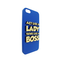 Act Like A Lady Think Like A Boss 3d  Wood  typography For Iphone 5, Iphone 4/4s