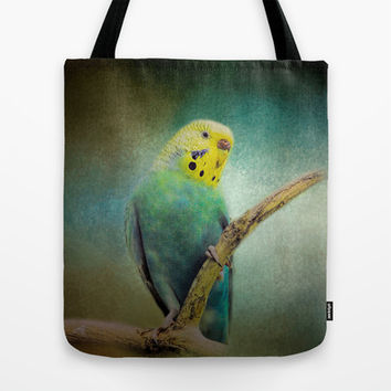 The Budgie Collection - Budgie 1 Tote Bag by Jai Johnson