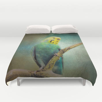The Budgie Collection - Budgie 1 Duvet Cover by Jai Johnson