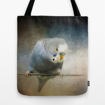 The Budgie Collection - Budgie 3 Tote Bag by Jai Johnson