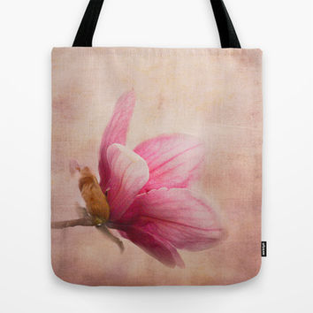Pink Magnolia I - Flower Art Tote Bag by Jai Johnson