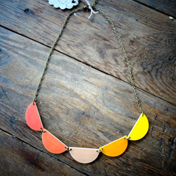 $32.00 Scallop Bunting Necklace by EachToOwn