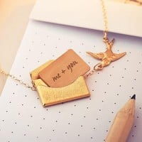 Handwritten Mini Love Letter Necklace