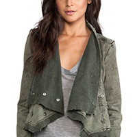 Free People Collapsing Twill Jacket in Military