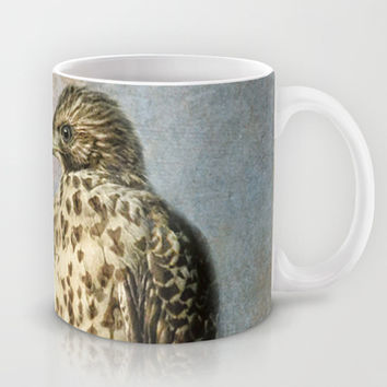 On The Fence - Juvenile Red Shouldered Hawk Mug by Jai Johnson