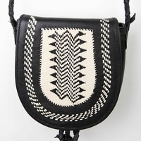 Ecote Woven Leather Saddle Bag - Urban Outfitters