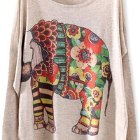 Chic Elephant Batwing-Sleeves Sweater