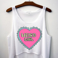 Weird Girl Crop Top - Hipster Tops