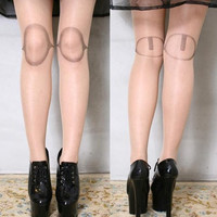 BJD Dollfie SD Pullip Lolita Punk Creepy Fake Plastic Doll Leg Knee Joint Tights