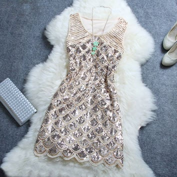 Fashion sexy sequined dress