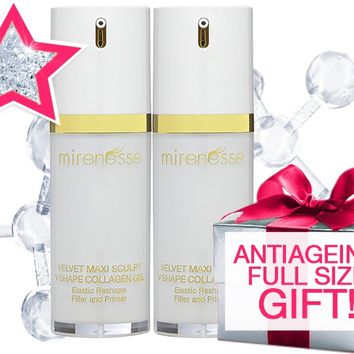 *SP Instant Tighten and Lift DUO: Velvet Maxisculpt Collagen Gele + BONUS ANTIAGING GIFT - Mirenesse