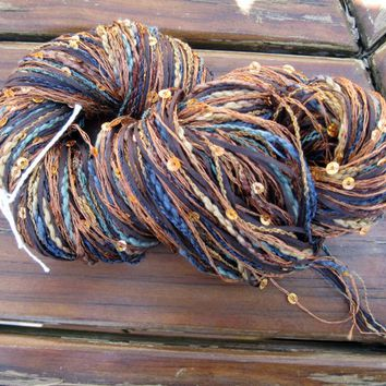 LucaTape, Fancy Novelty Yarn, cotton, nylon, sequins, worsted, 1 skein