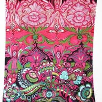 Plum & Bow Floral Garden Tapestry- Berry One