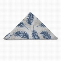 Uneekee Blue Feathers Cloth Napkin