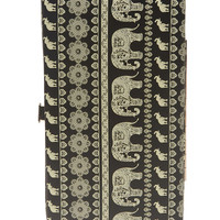 Elephant Print Hinged Wallet | Wet Seal