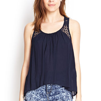 Sleeveless Crotchet Back Top