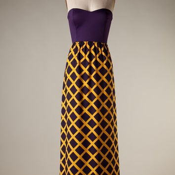 The Touchdown Gameday Maxi in Purple and Gold