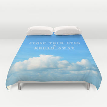 close your eyes Duvet Cover by Steffi ~ findsFUNDSTUECKE