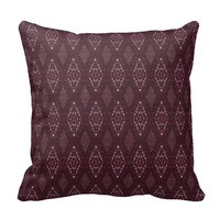 Pave Diamonds Garnet Throw Pillow