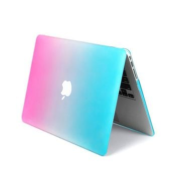 "Smart Tech ® AIR 13-inch Rubberized Hard Crystal Clear Case Cover for Apple MacBook Air 13.3"" (Models: A1369 and A1466) (Rainbrow)"