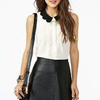 Scalloped Tux Top  in  Clothes Tops at Nasty Gal