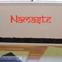 Namaste Vinyl Wall Art FREE Shipping Sanskrit by showcase66