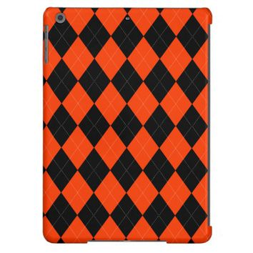 Orange Black Argyle iPad Air Case