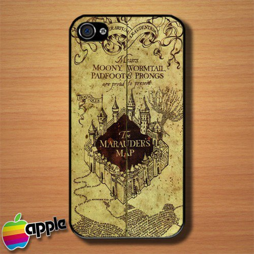 The marauder Map Custom iPhone 4 or 4S Case Cover | Merchanstore - Accessories on ArtFire