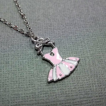 Ballerina Necklace Ballet Little Girl Necklace Friendship Gift Jewelry Ballet Necklace Dance Pink Necklace