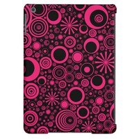 Rounds, Pink-Black iPad Air Case