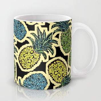 Pineapple Pandemonium - Retro Tones Mug by Lisa Argyropoulos | Society6