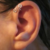 Ear Cuff Sterling Silver Handmade Helix by ArianrhodWolfchild