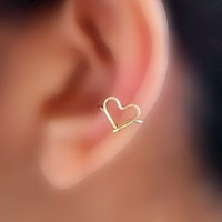 Sweet Heart Ear Cuff by catchalljewelry on Etsy