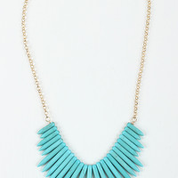 Faux Stone Edge Necklace